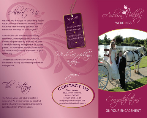 Auburn Valley Weddings Tri-Fold